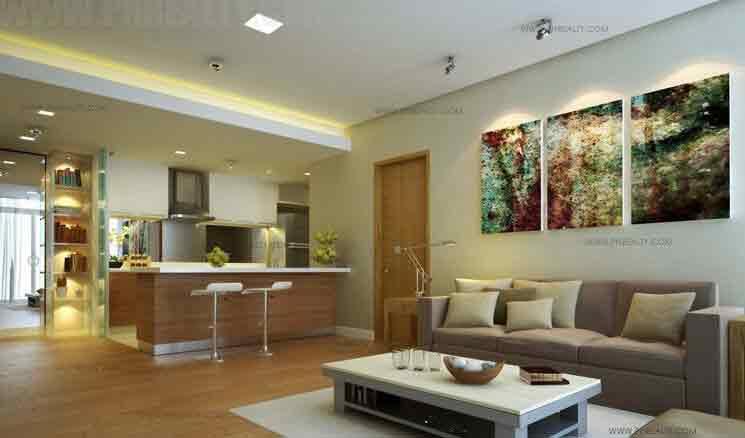 1 - Bedroom Living & Kitchen Areas