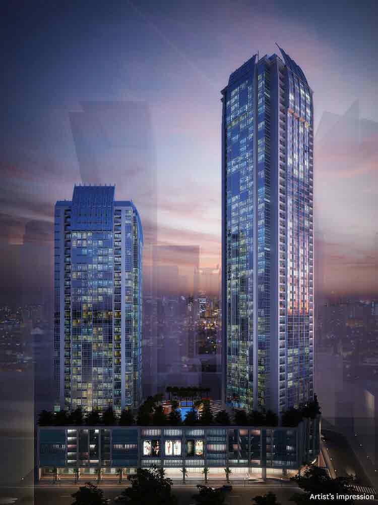 Building Facade - Night View