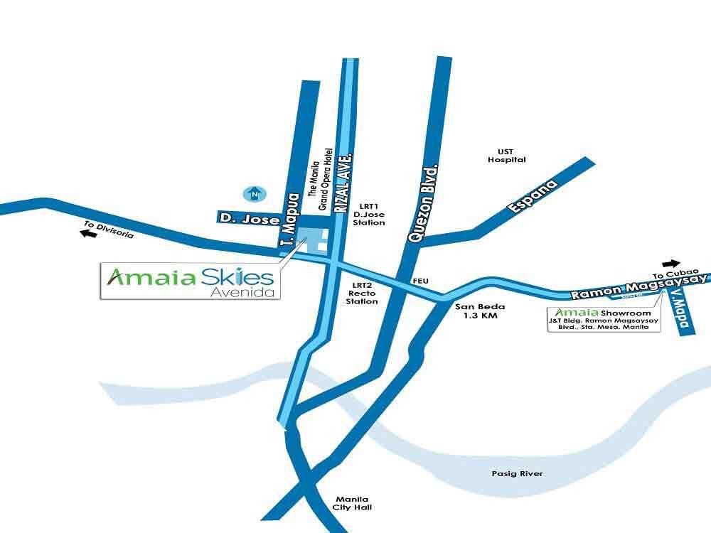 Amaia Skies Avenida- Location Map