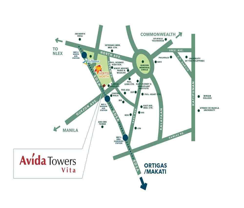 Location Map- Avida Towers Vita