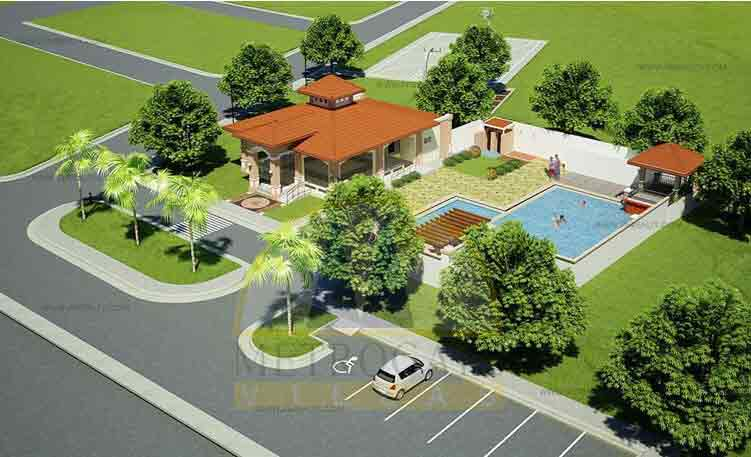 Clubhouse Aerial View