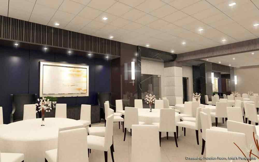 Dressed up Function Room for Events