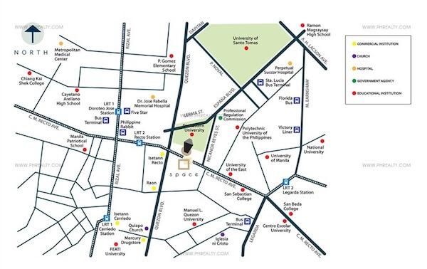 Space U Belt- Location Map