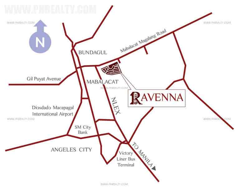 Raveena - Location Map