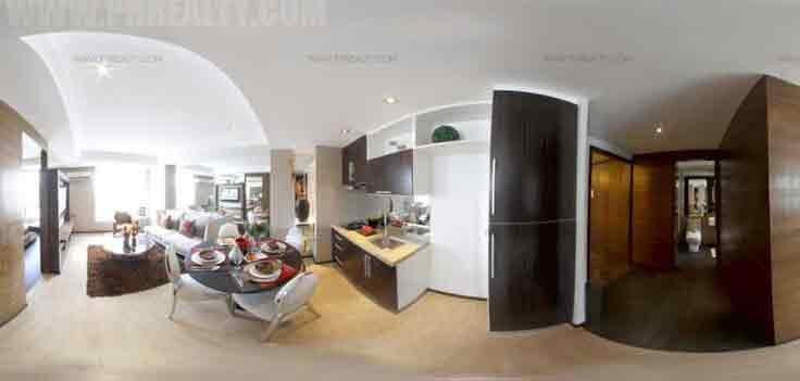 Pre One Bedroom Unit Kitchen Living Room
