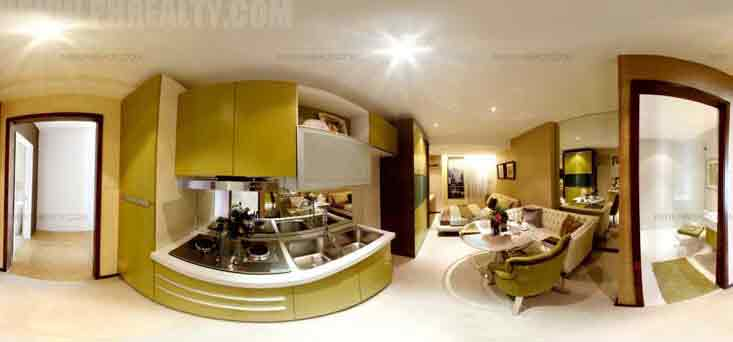 Pre Studio Type Unit 3 - Kitchen & Dining Area