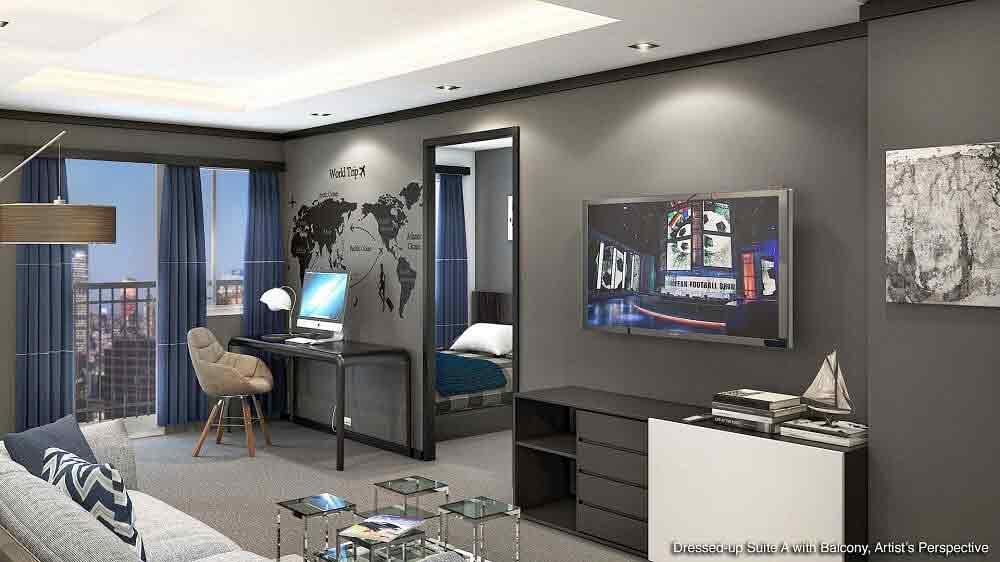 Studio A with Balcony