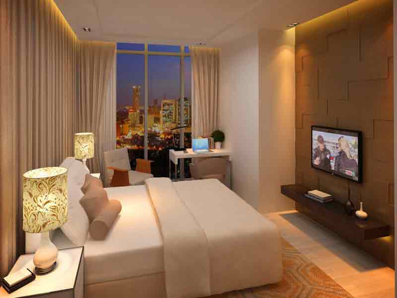 Tower 2 - 2 Bedroom Master Bedroom