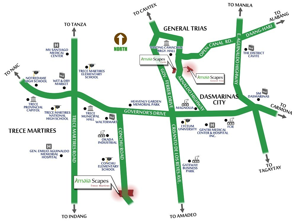 Amaia Scapes Trece Matires-Location Map