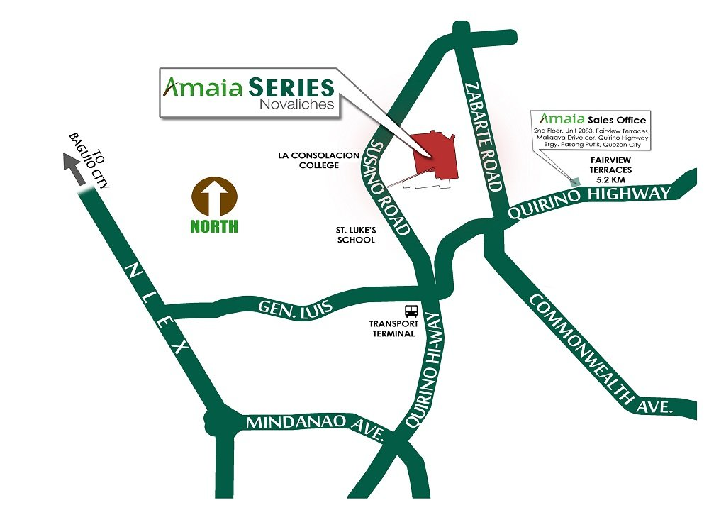 Amaia Series Novaliches- Location Map