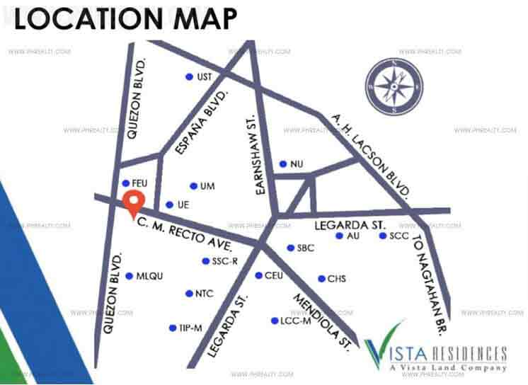 Vista Recto - Location Map