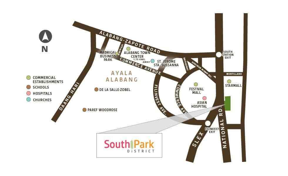 Avida Towers Altura - Location Map