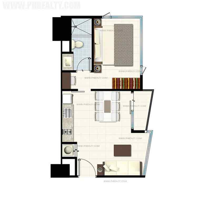One Bedroom Deluxe End Unit With Balcony