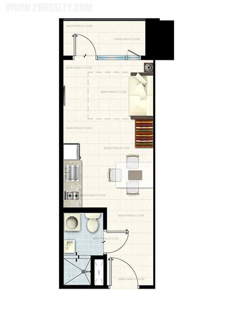 Studio Unit With Balcony