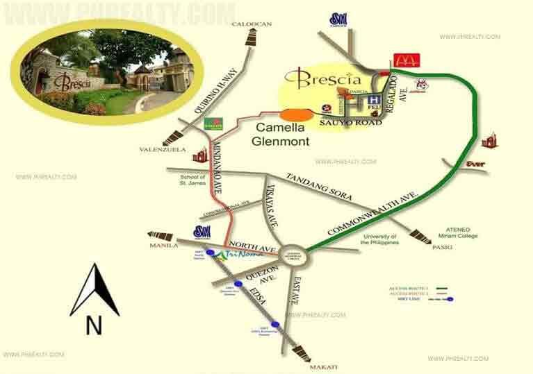 Brescia Residences- Location Map