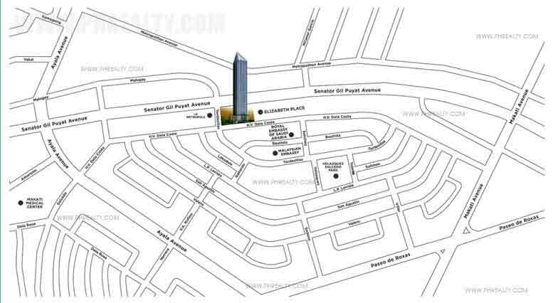 Shang Salcedo Place -Location Map