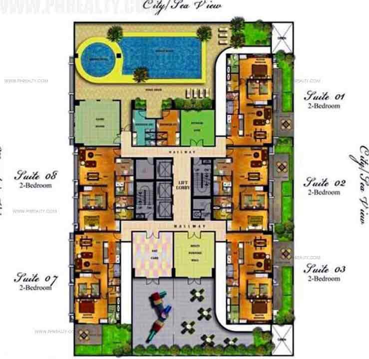 5th Floor Plan Amenity Deck