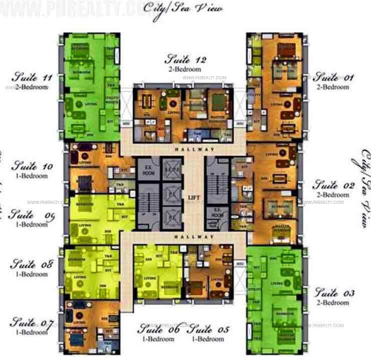 6th - 18th Floor Plan