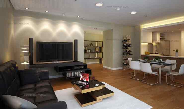 One Bedroom Deluxe Living , Dining , Kitchen Areas