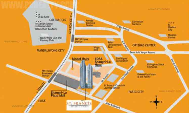 St. Francis Shangri-La Place -Location & Vicinity