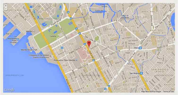 Vista Taft 1344 - Location Map